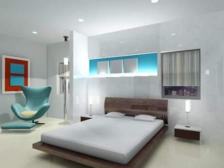 Пример белой спальни – чистота и комфорт