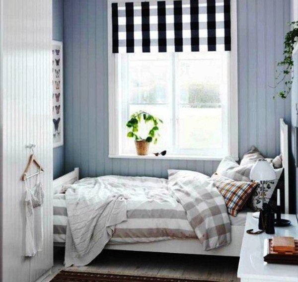 Пример интерьера спальной с кроватью на одного
