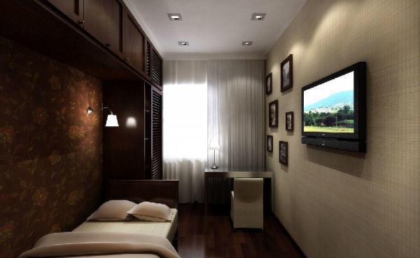 Пример оформления узкой, но длинной комнаты