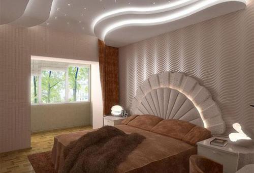 Пример создания многоуровневых потолков с подсветкой