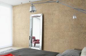 Пробка – вариант для просторной спальни