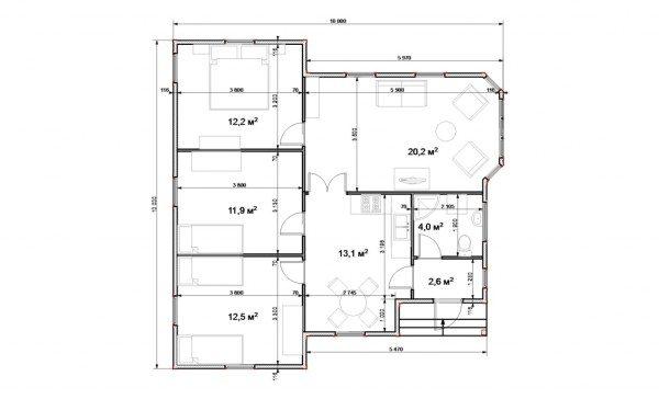 Проект 10х10 позволяет спокойно планировать все помещения