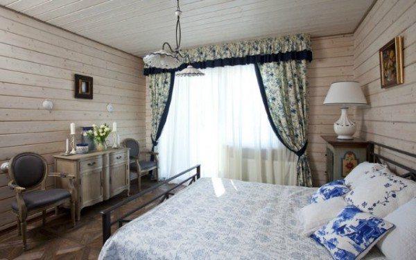 Проект спальни в сине-белых тонах