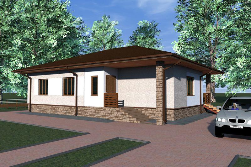 Проекты домов с тремя спальнями требуют очень бережно и изобретательно относиться ко всему окружающему ландшафту