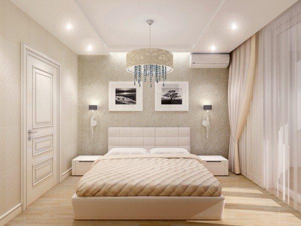 Расположение кровати в небольшой спальне