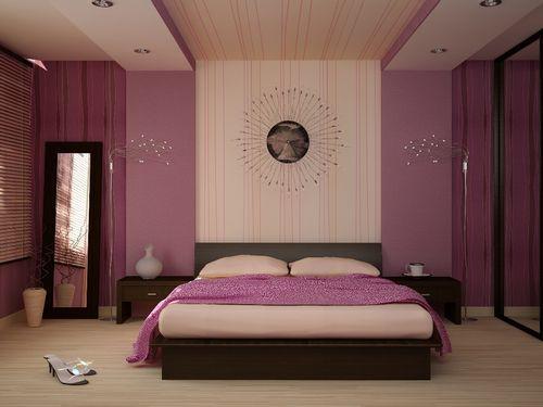 Решая, в каком цвете лучше сделать спальню, помните, что не рекомендуется использовать больше четырех цветов.