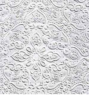 Рисунок на тисненых обоях рельефный, что значительно улучшает внешний вид стен