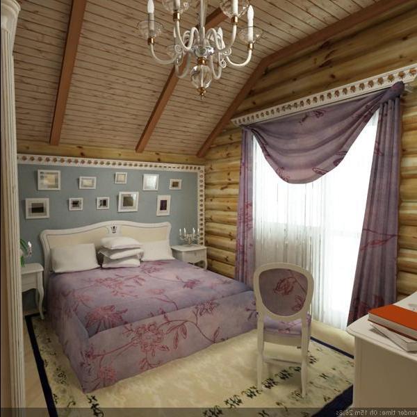 Романтики выберут интерьер кантри с приятными расцветками мягкого лилового и сиреневого.