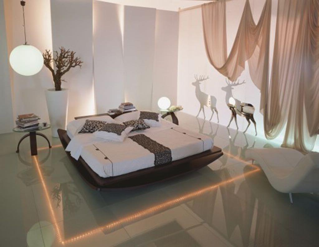 роскошная идея освещения спальни-вы только посмотрите!