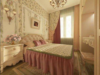 Роскошный дизайн небольшой спальни