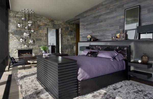 Роскошный дизайн спальни с элементами скандинавского стиля