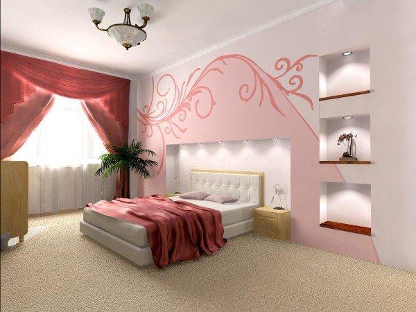 Роспись стен красками всегда привлекала разнообразием и доступностью способов и расцветок.