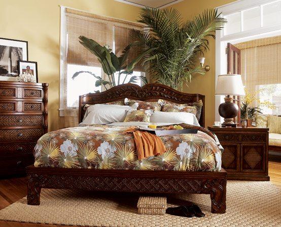 Фото комнатные цветы в интерьере спальни