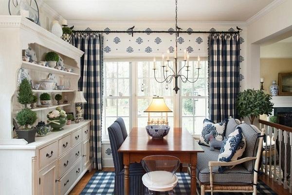 Как оформить окна на кухне в стиле прованс