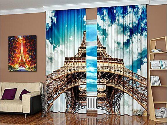 Шарм и шик Парижа – занавеси с оформлением 3Д