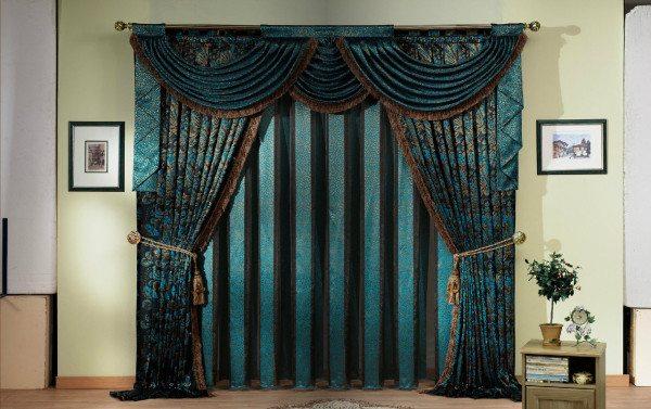 Шикарные шторы из благородных дорогих материалов
