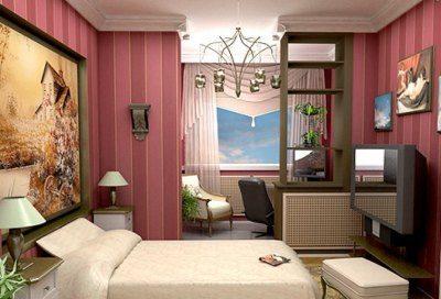Штора или вертикальные жалюзи в проеме высотой до потолка позволят изолировать кабинет