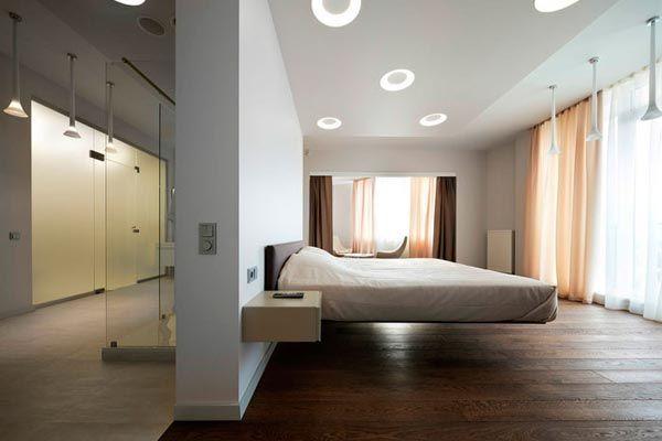 Шторы в белую спальню – сочетание белого, персикового и венге