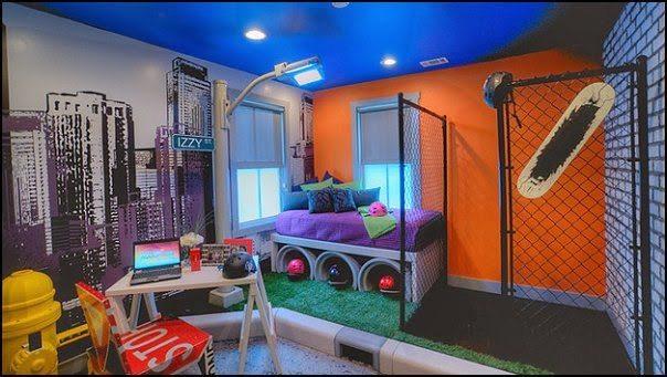 Смелое решение в декоре спальни