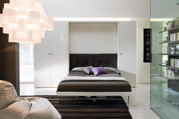 Спальное место можно убрать в стену – идеальное решение для однокомнатных квартир