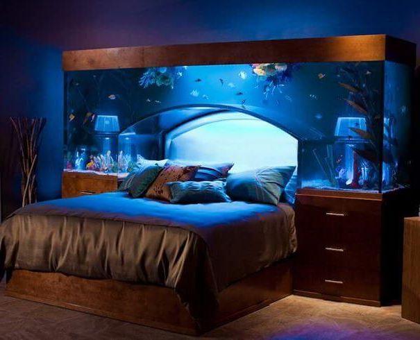 спальня аквариум плюс подсветка