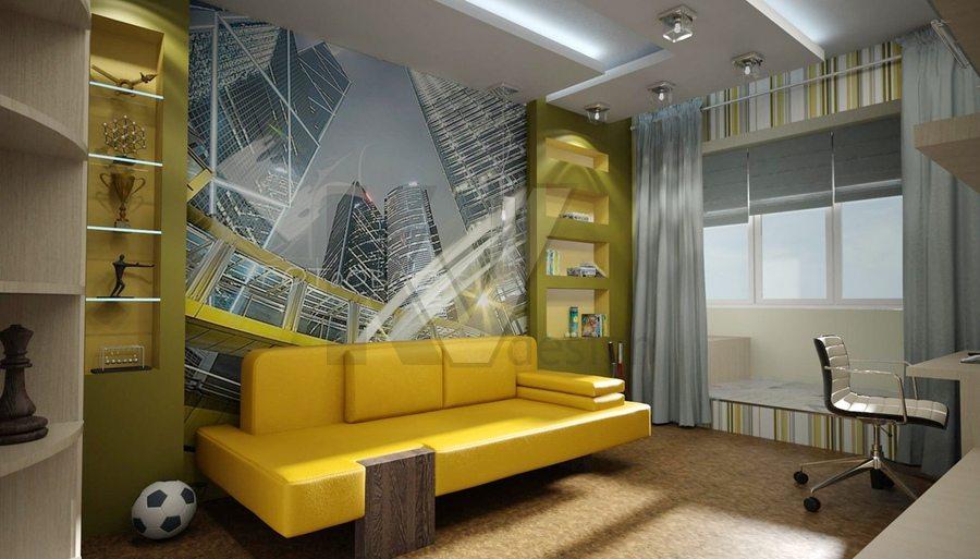 Спальня для мальчика стиль «урбани»