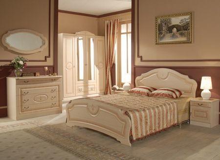 Спальня с применением коричневого цвета