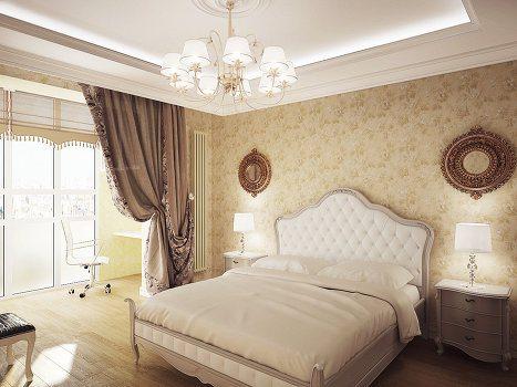 Спальня совмещенная с балконом образует единое пространство