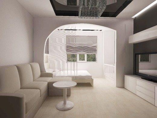 Спальня, совмещенная с гостиной – популярное решение в современных интерьерах