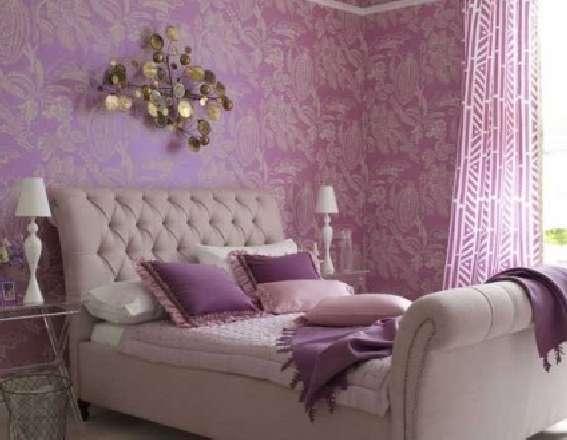 Спальня в фиолетовых оттенках – красиво и элегантно