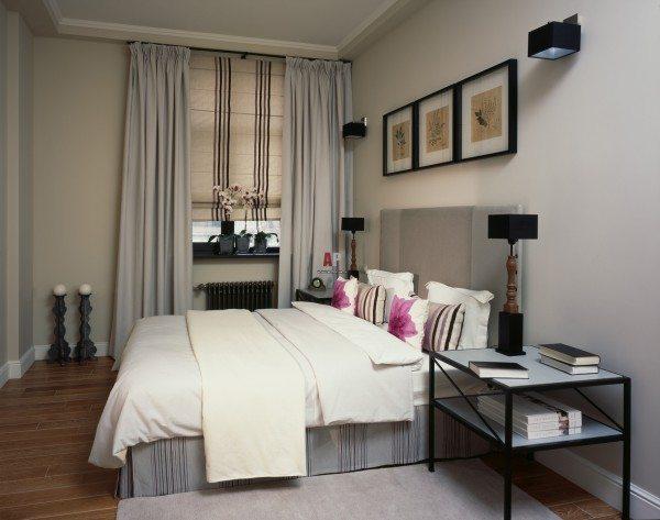 Спальня в стиле фьюжн.