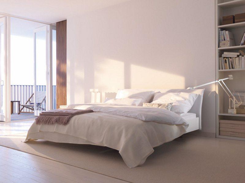 Спальня в стиле минимализм – ничего лишнего, цепляющего глаз
