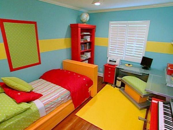 Спальня ярких оттенков побуждает, активирует и радует!