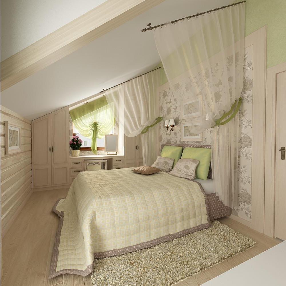 Интерьер спальни загородного дома фото