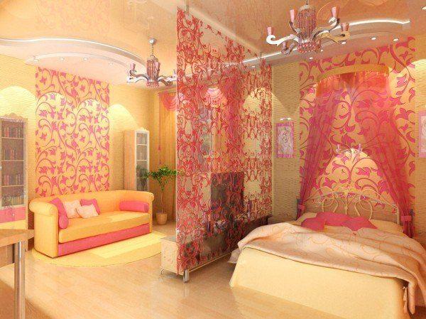 Стеклянные элементы делают комнату объемней