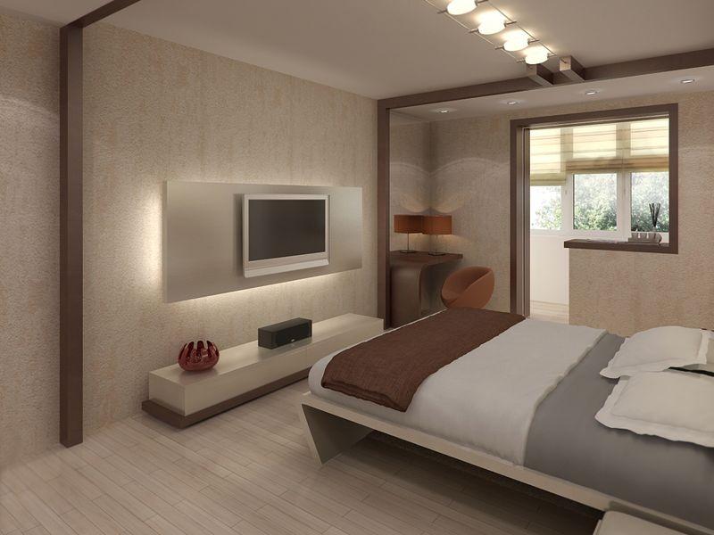 Стены и мебель прекрасно дополняют друг друга, делая обстановку располагающей к отдыху.