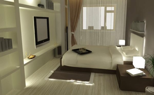 Стиль в комнате уверенно поддерживает боковое освещение.