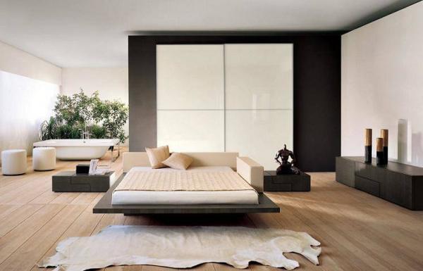 Стильной кровать будет только в том случае, если она подходит под общий интерьер комнаты