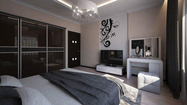 Стильные апартаменты «модерн» в холодной гамме