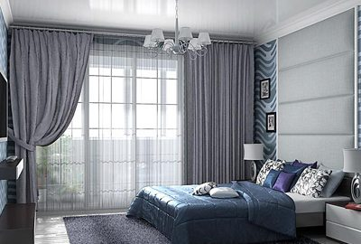 Стираем грани между внутренним и внешним миром, серые шторы в спальню как раз таки помогут в этом.