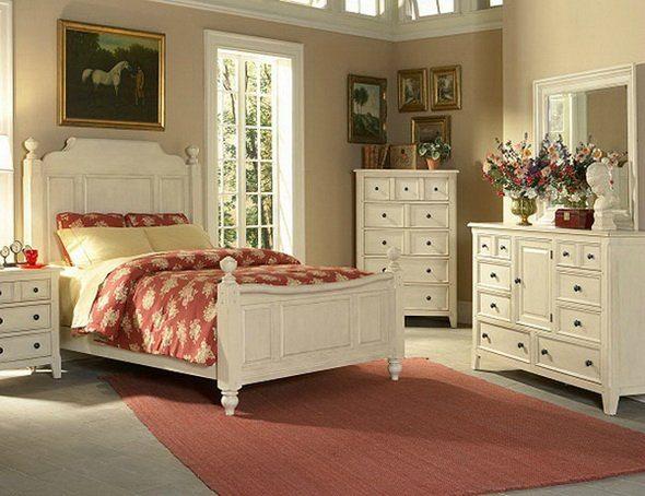 Светлая мебель в спальню в стиле прованс: гармоничное сочетание оттенков