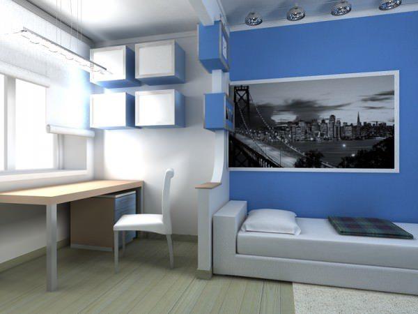 Светлые тона окраски визуально расширяют пространство комнаты.