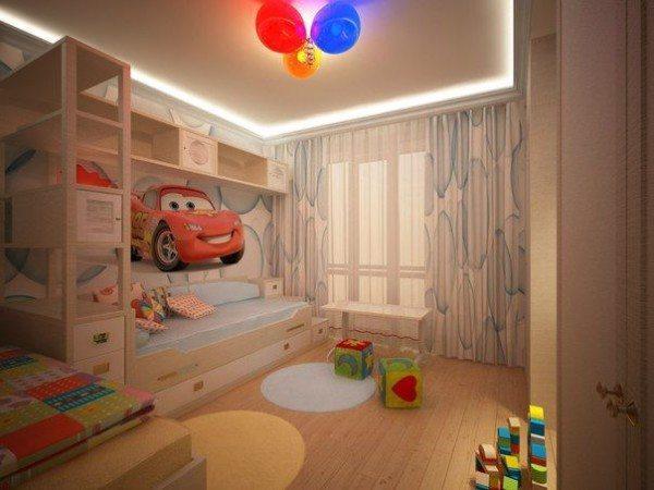 Светодиоды в декоре потолка детской