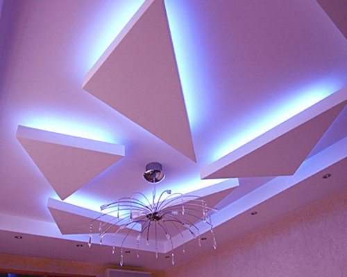Такой потолок, как из гипсокартона не получится создать из других материалов