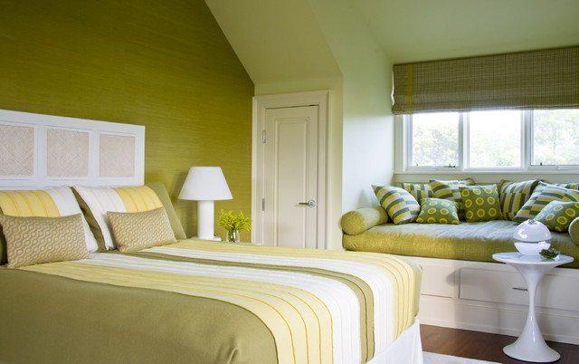 Теплый оттенок зеленого – свежесть и благоприятный микроклимат пространства.