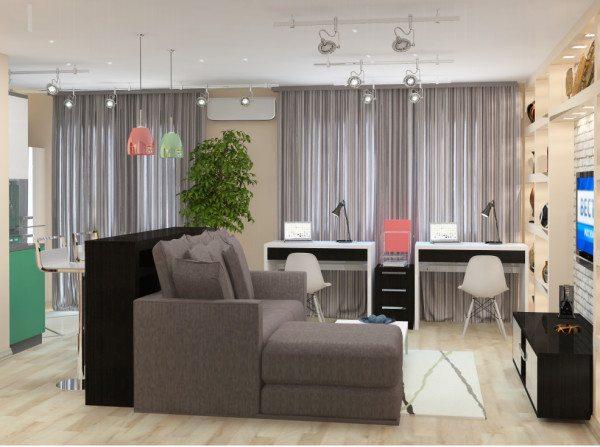 Типовое решение для квартиры-студии