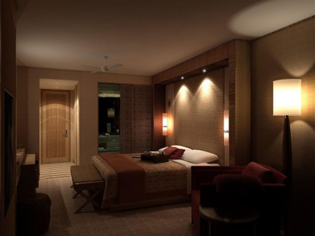 точечное декоративное освещение спальни