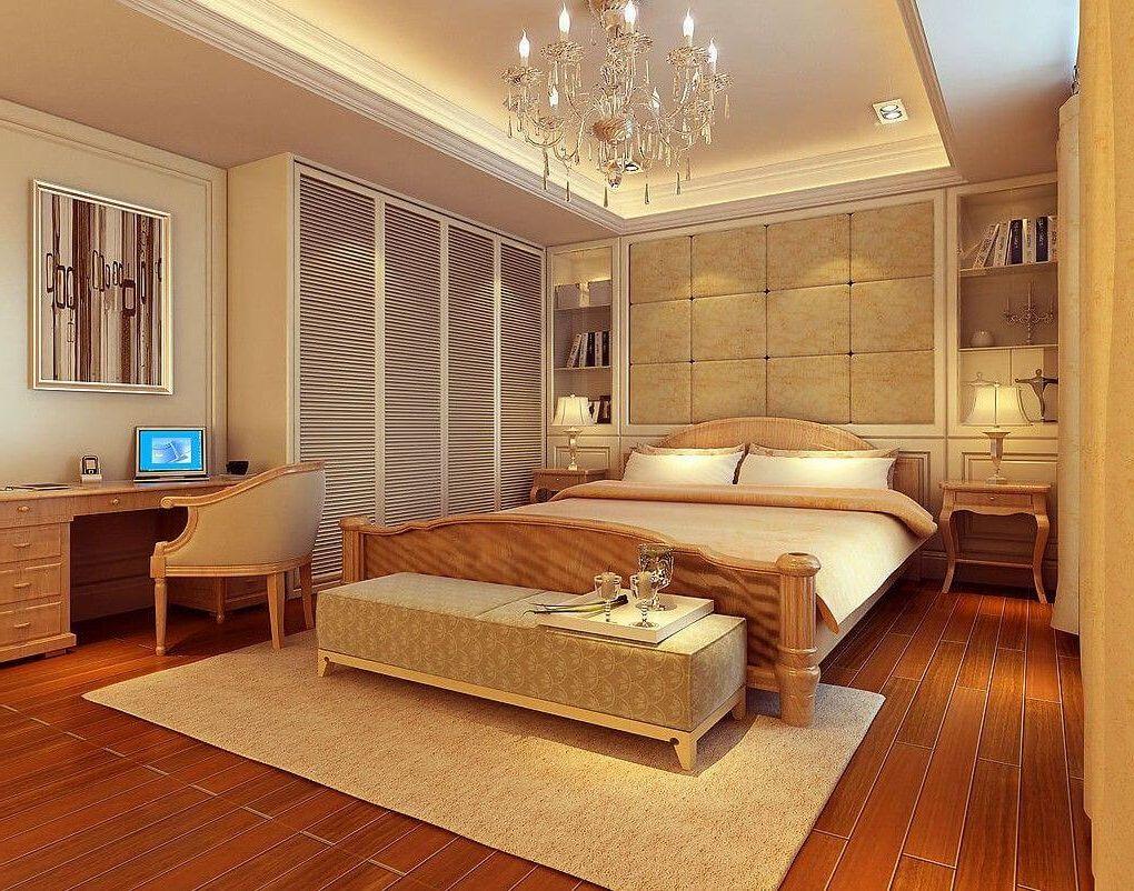 Точечное освещение на подушки в спальне