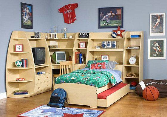 Требования к детским спальням не отличаются от требований к спальням взрослых – всё та же удобная кровать и умелый, но уже функциональный, дизайн