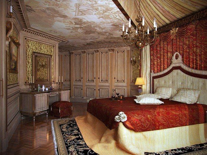 Удивительное оформление потолка в «королевской спальне».